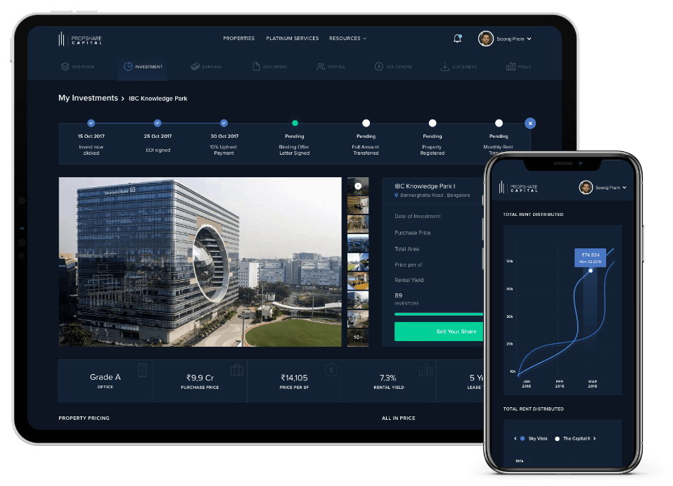 property investment dashboard demo propshare capital